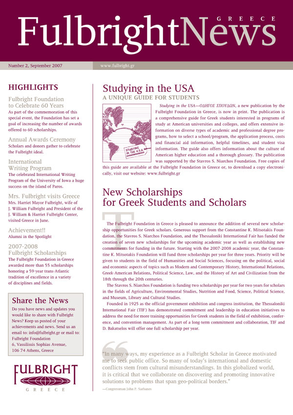 Fulbright Newsletter 2nd Issue