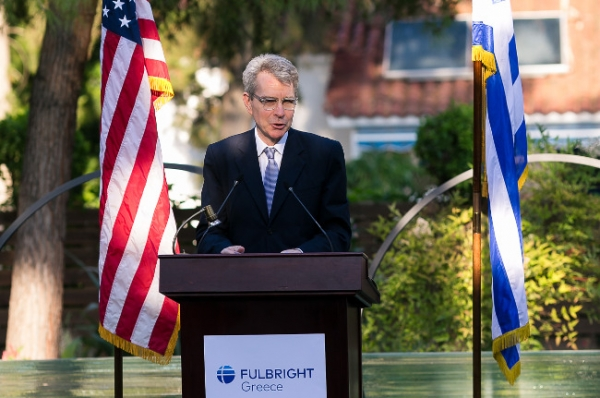 U.S. Ambassador Pyatt Honors 2020-2021 Greek and U.S. Fulbright Scholarship Recipients and Fulbright Donors